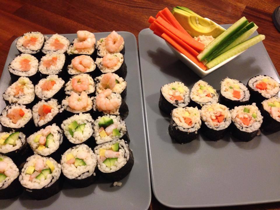 Hjemmelavet sushi