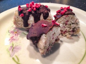 Protein bar med hindbær og kokos:))))