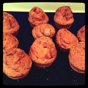 Banan-chokolade muffin