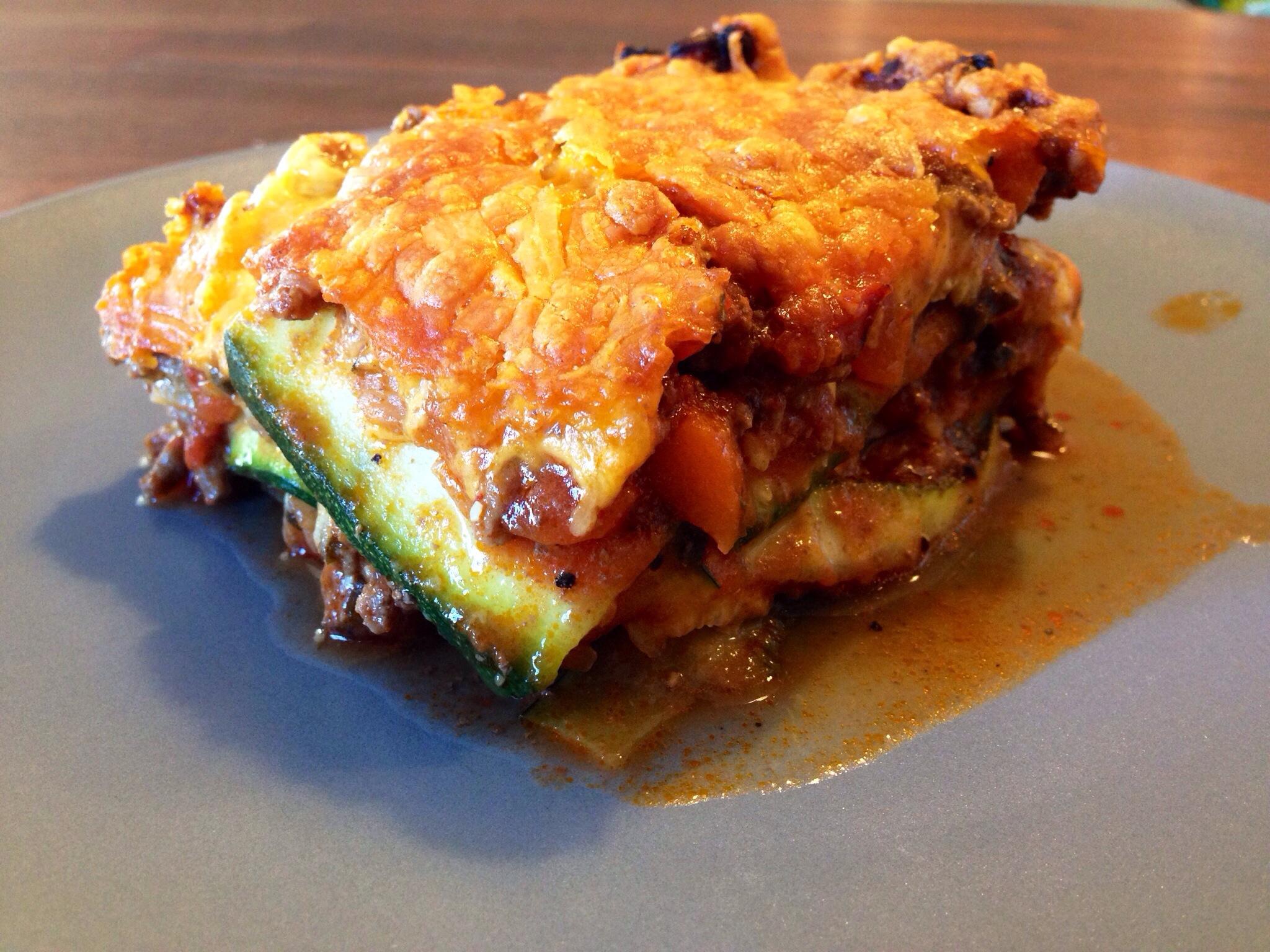 Lasagne med squash plader