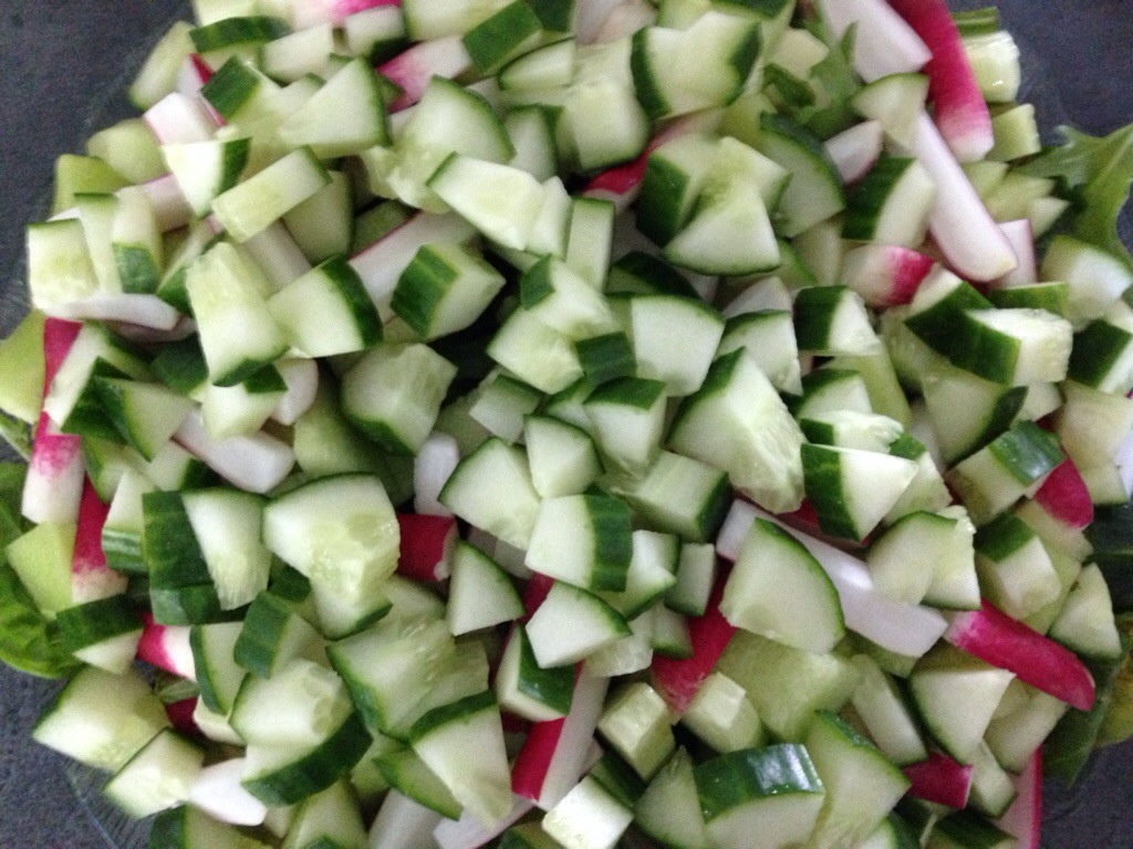Melon Salat Med Agurk Og Radiser