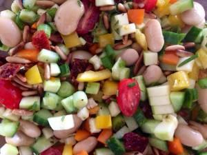 Salat med hvide bønner