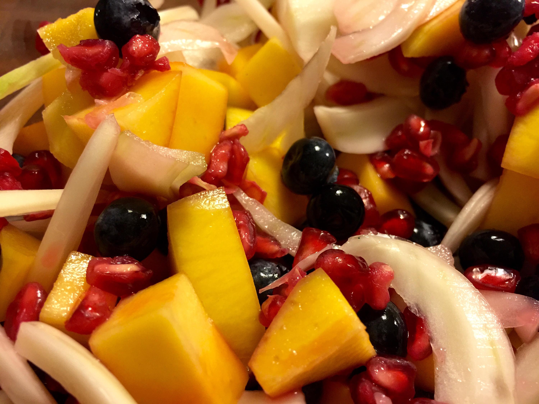 Frugtsalat med fennikel