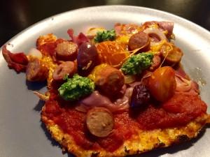 Blomkåls pizza med Parma skinke