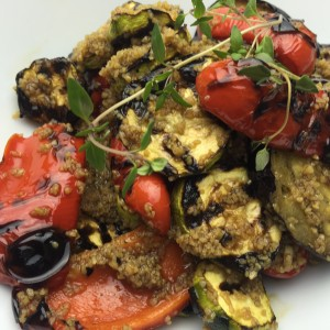 Grillede grøntsager og cous cous