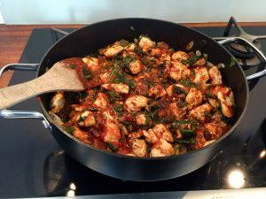 Kylling og spinat lasagne