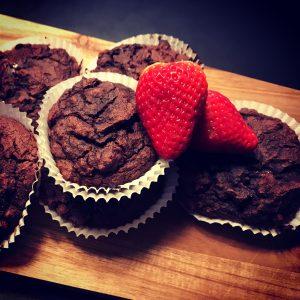 Chokolade muffins af sorte bønner