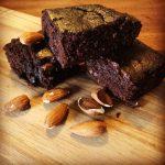 Brownie- med MASSER chokolade smag