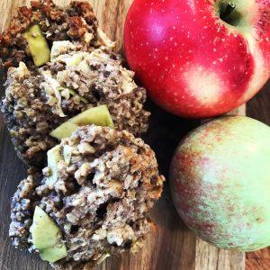 Æble muffins/ müslibar