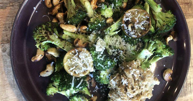 Stegte broccoli med linsecreme